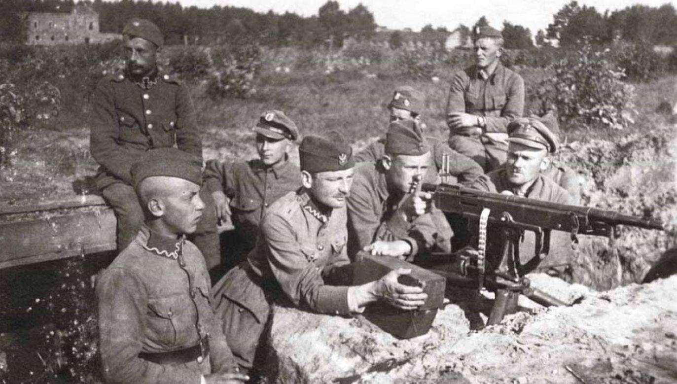 Polskie pozycje pod Miłosną, sierpień 1920 (fot. domena publiczna)