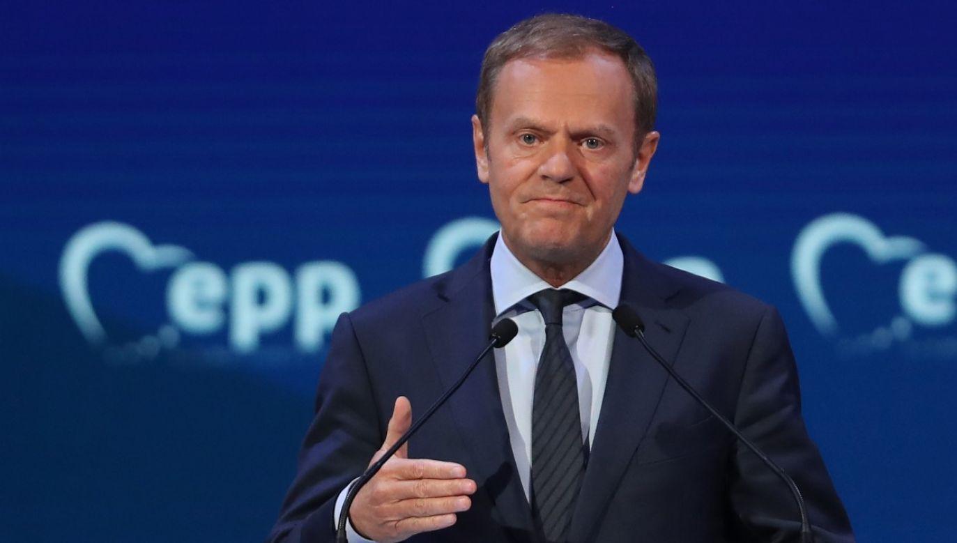Dzień po głosowaniu nad rezolucją PE ws. praworządności w Polsce Donald Tusk gwarantuje, ze Polska fundusze otrzyma(fot. Sean Gallup/Getty Images)