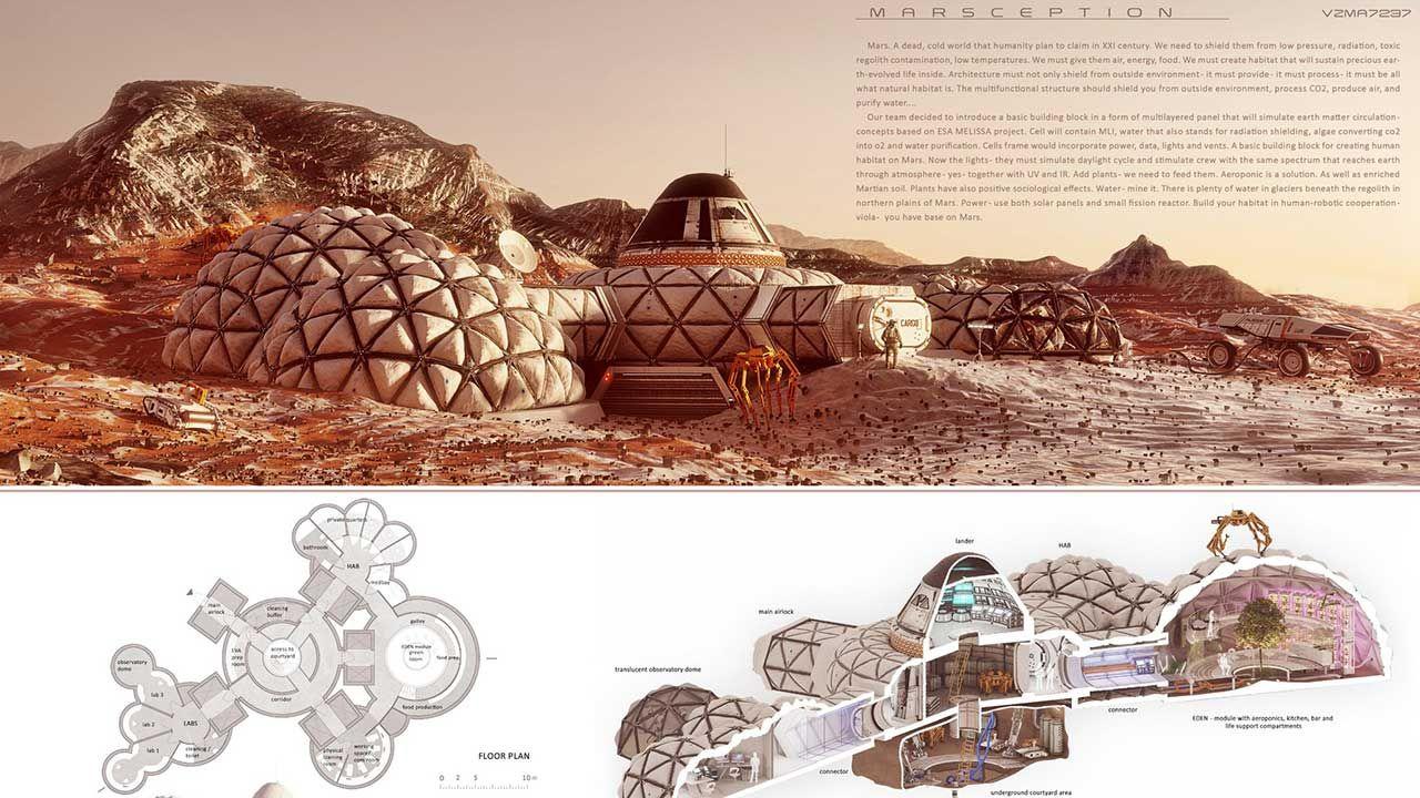 Zadaniem uczestników konkursu było stworzenie projektu lądownika, który na Marsa dostarczyłby 10-tonowy ładunek (fot. TT/Politechnika)