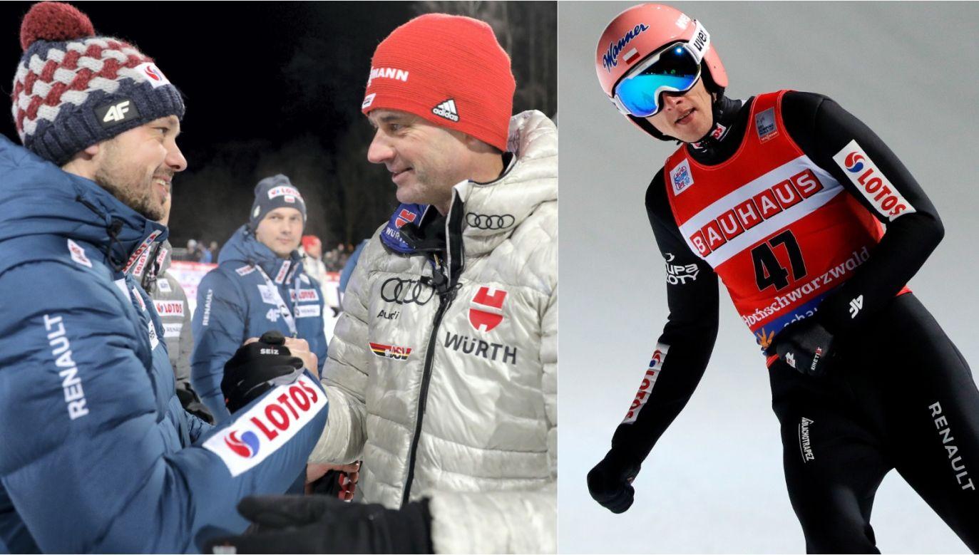 Michal Doleżal, Stefan Horngacher i Dawid Kubacki (fot. PAP)