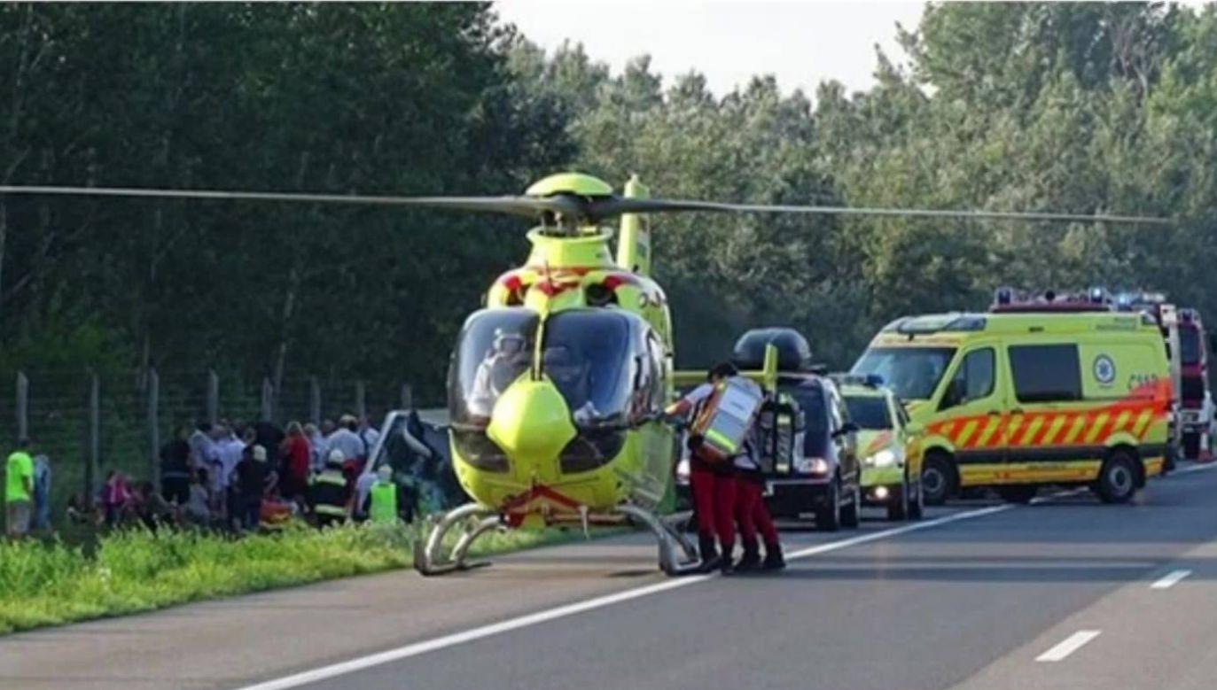 W wypadku zginęła jedna osoba, a 34 zostały ranne (fot. TVP INFO)