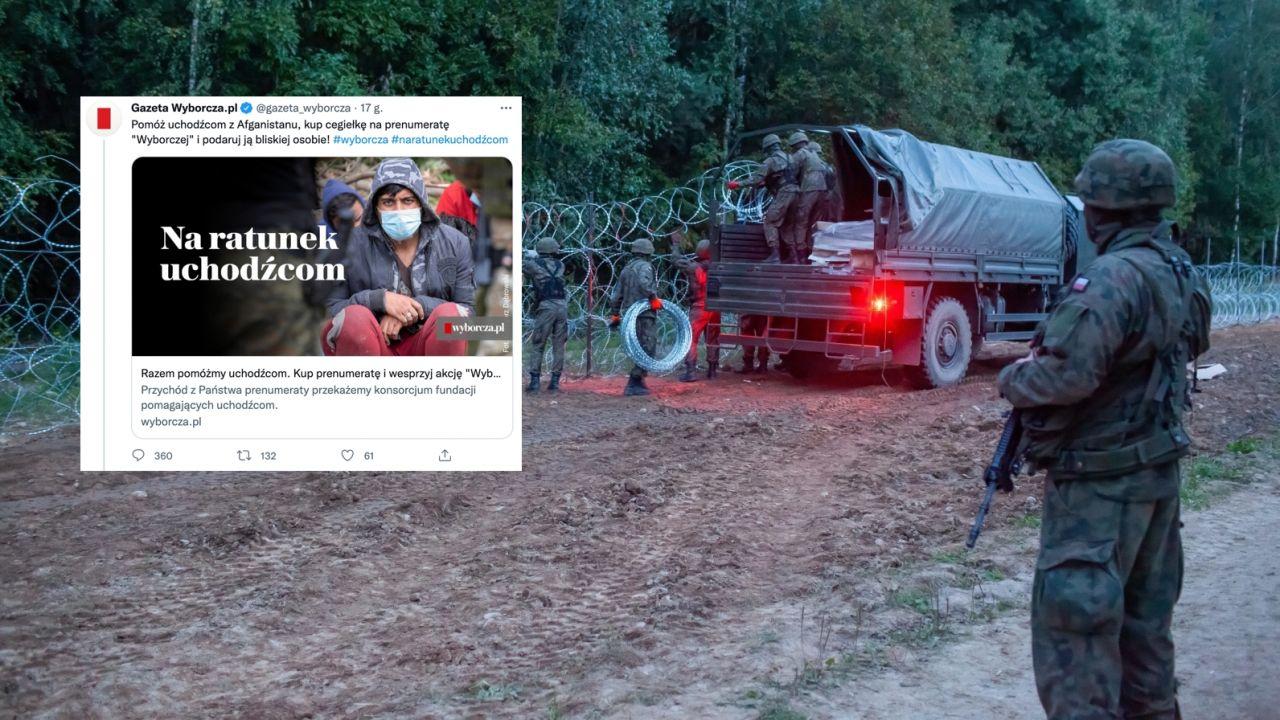 Spór o imigrantów na granicy polsko-białoruskiej (fot. PAP/Marcin Onufryjuk, twitter.com/MariaKoc1)