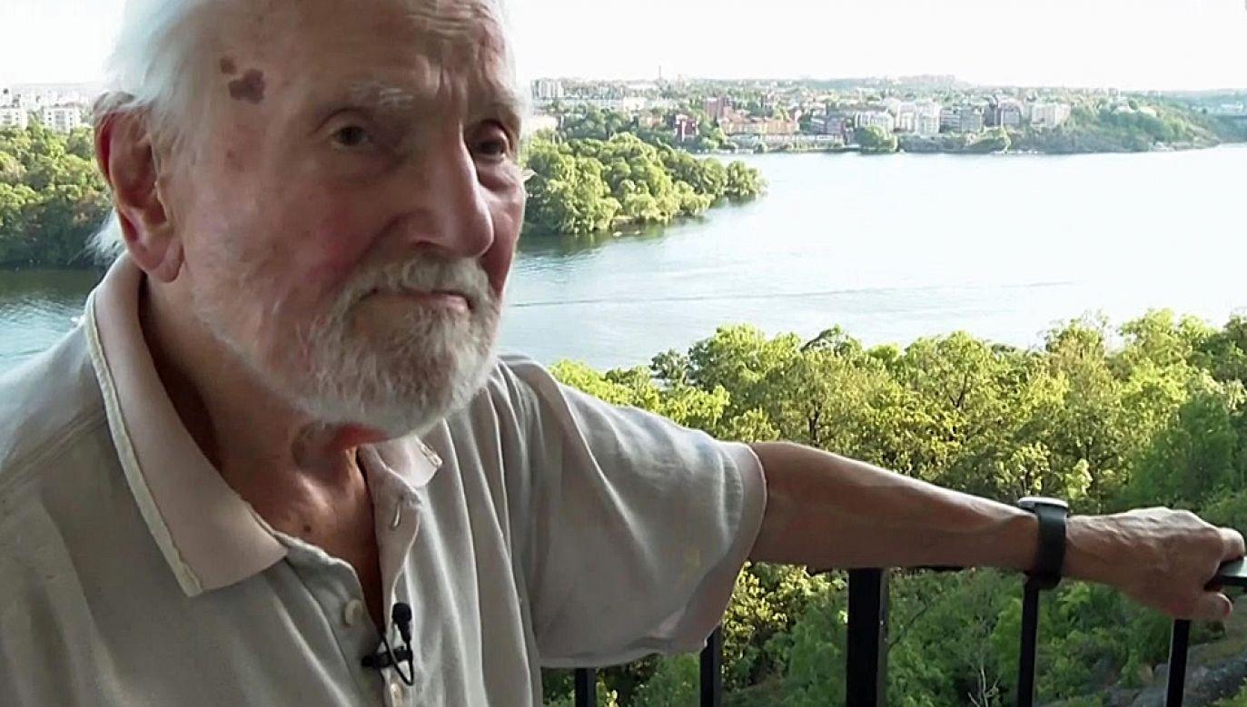 91-letni Jan Mizerski od lat mieszka na obczyźnie (fot. TVP1)