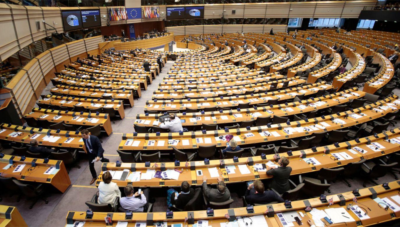 Polscy europosłowie zarzucali sobie kłamstwo (fot. PAP/EPA/Olivier Hoslet)