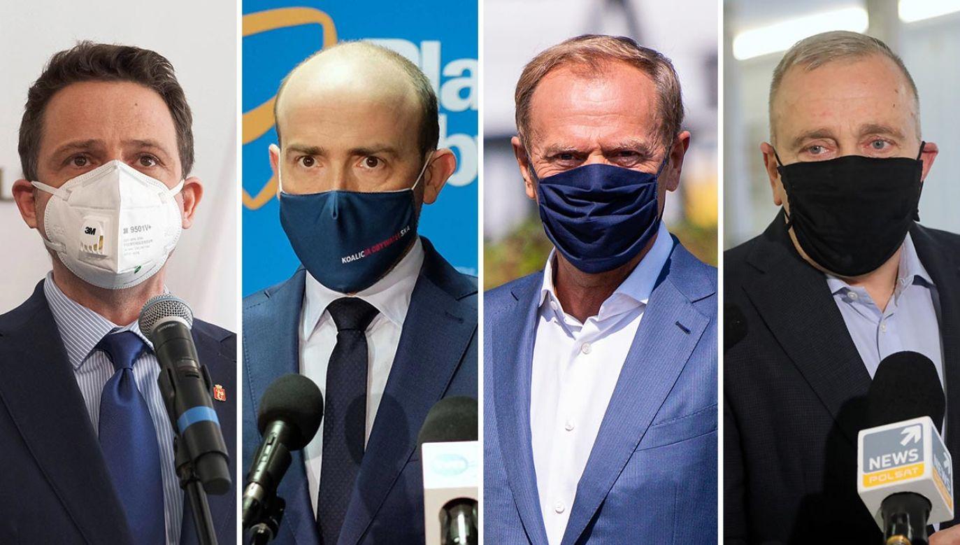 Kto przejmie władzę w Platformie Obywatelskiej? (fot. PAP/Mateusz Marek, Andrzej Grygiel; Forum/Mateusz Slodkowski; PAP/Wojciech Olkuśnik)