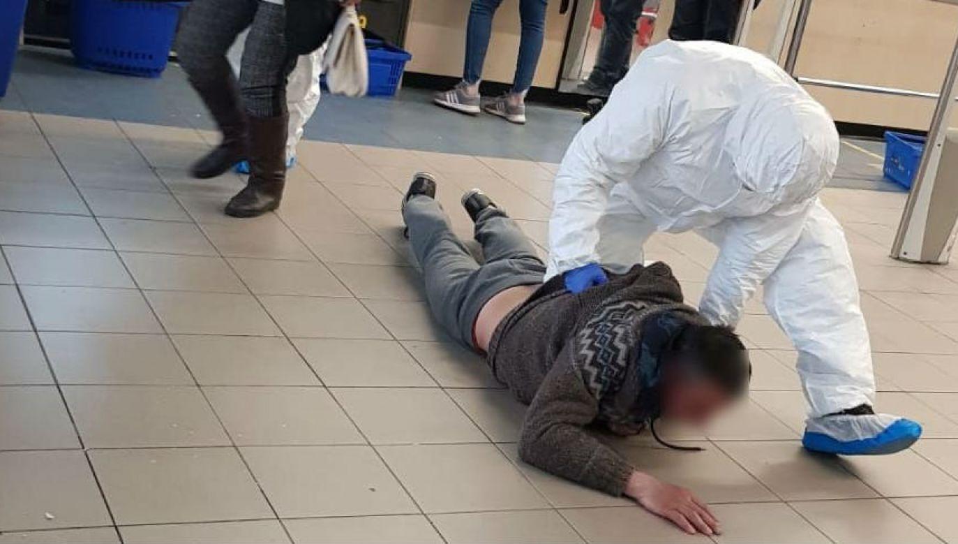 Interwencja w sklepie w Sosnowcu (fot. KMP Sosnowiec)
