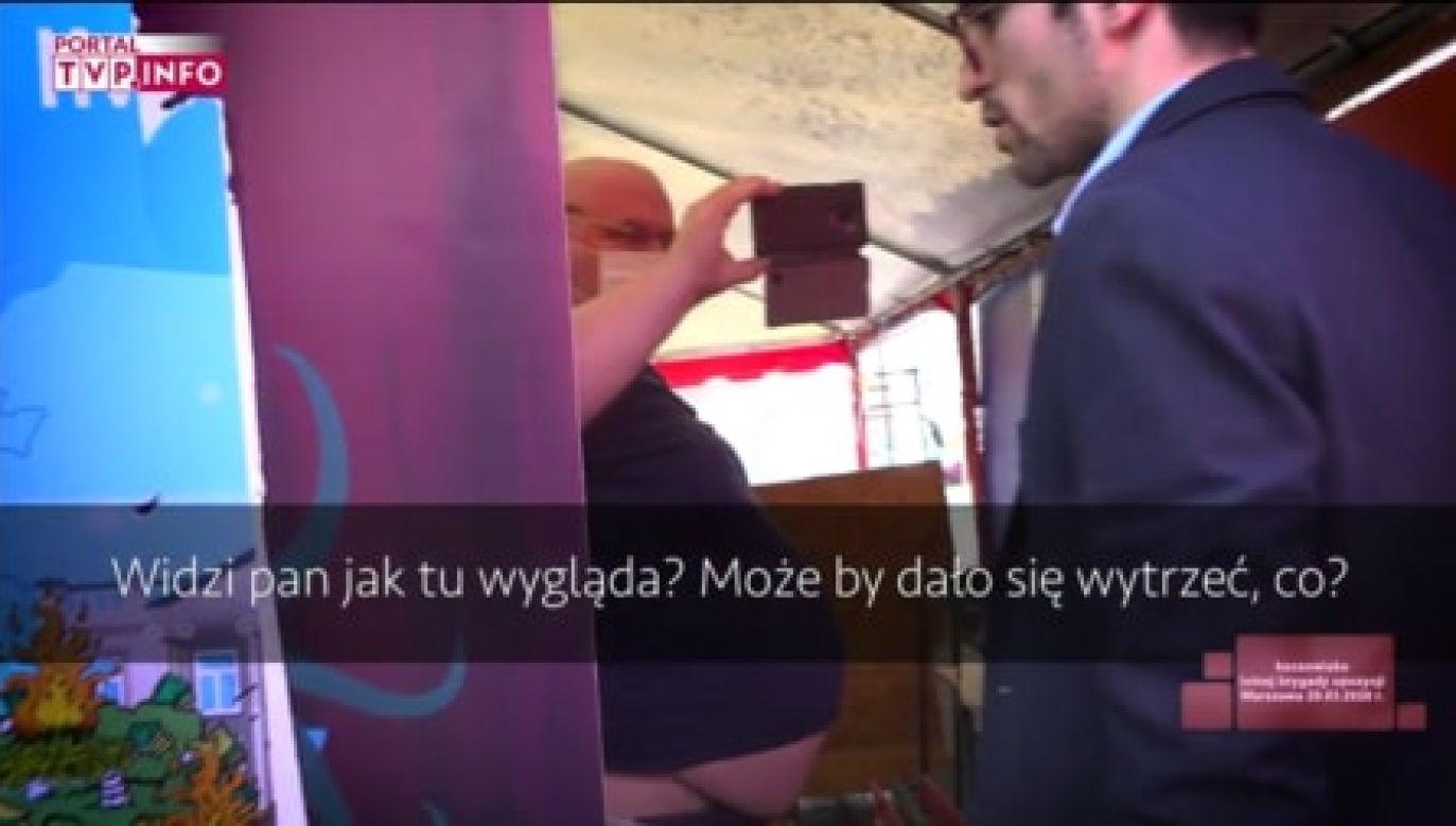 Taka sceneria nie przeszkadza prezydentowi stolicy (fot. portal tvp.info)