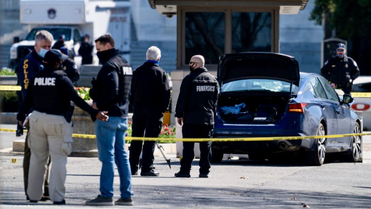 Ze strony uciekającego auta padły strzały, które raniły trzech policjantów (fot. Bill Clark/CQ-Roll Call, Inc/Getty Images, zdjęcie ilustracyjne)