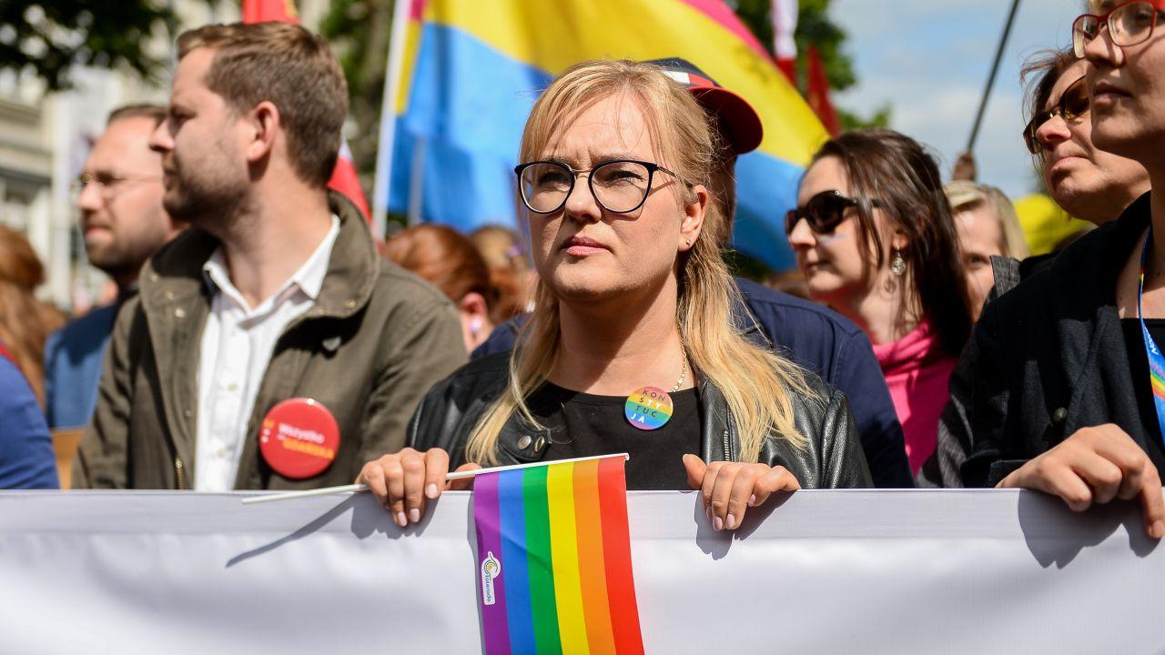 Europosłanka KO Magdalena Adamowicz (fot. Mateusz Slodkowski/SOPA Images/LightRocket via Getty Images)