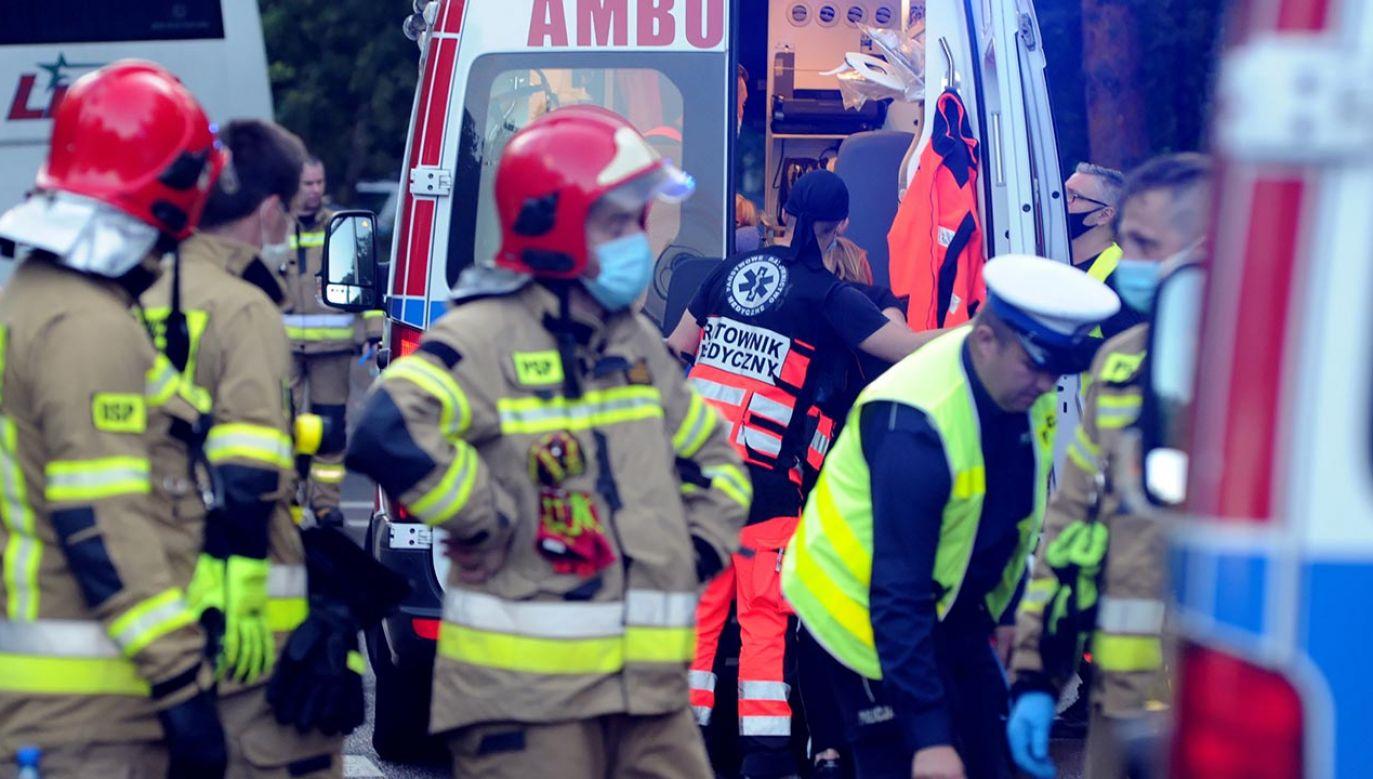 Przyczyny wypadku nie są jeszcze znane (fot. PAP/Marcin Bielecki, zdjecie ilustracyjne)