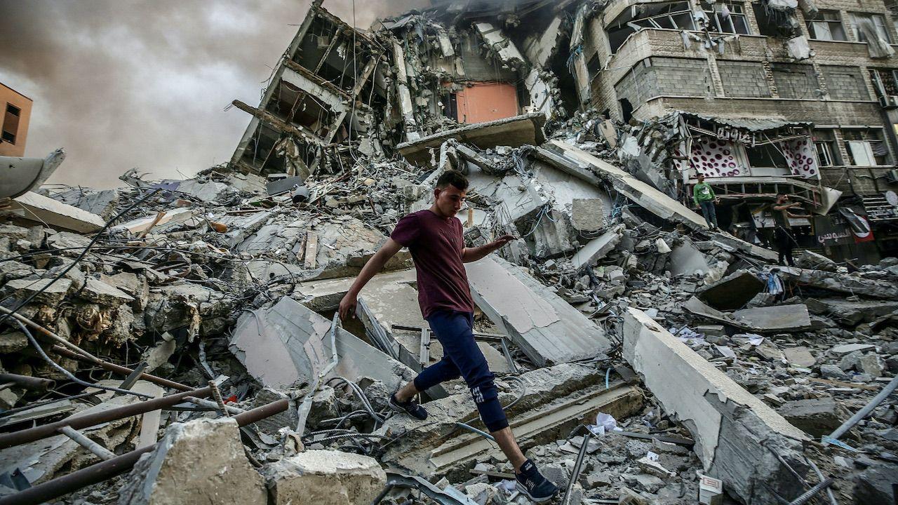 Władze Izraela wzywają ONZ do potępienia ataków ze Strefy Gazy (fot. PAP/EPA/MOHAMMED SABER)