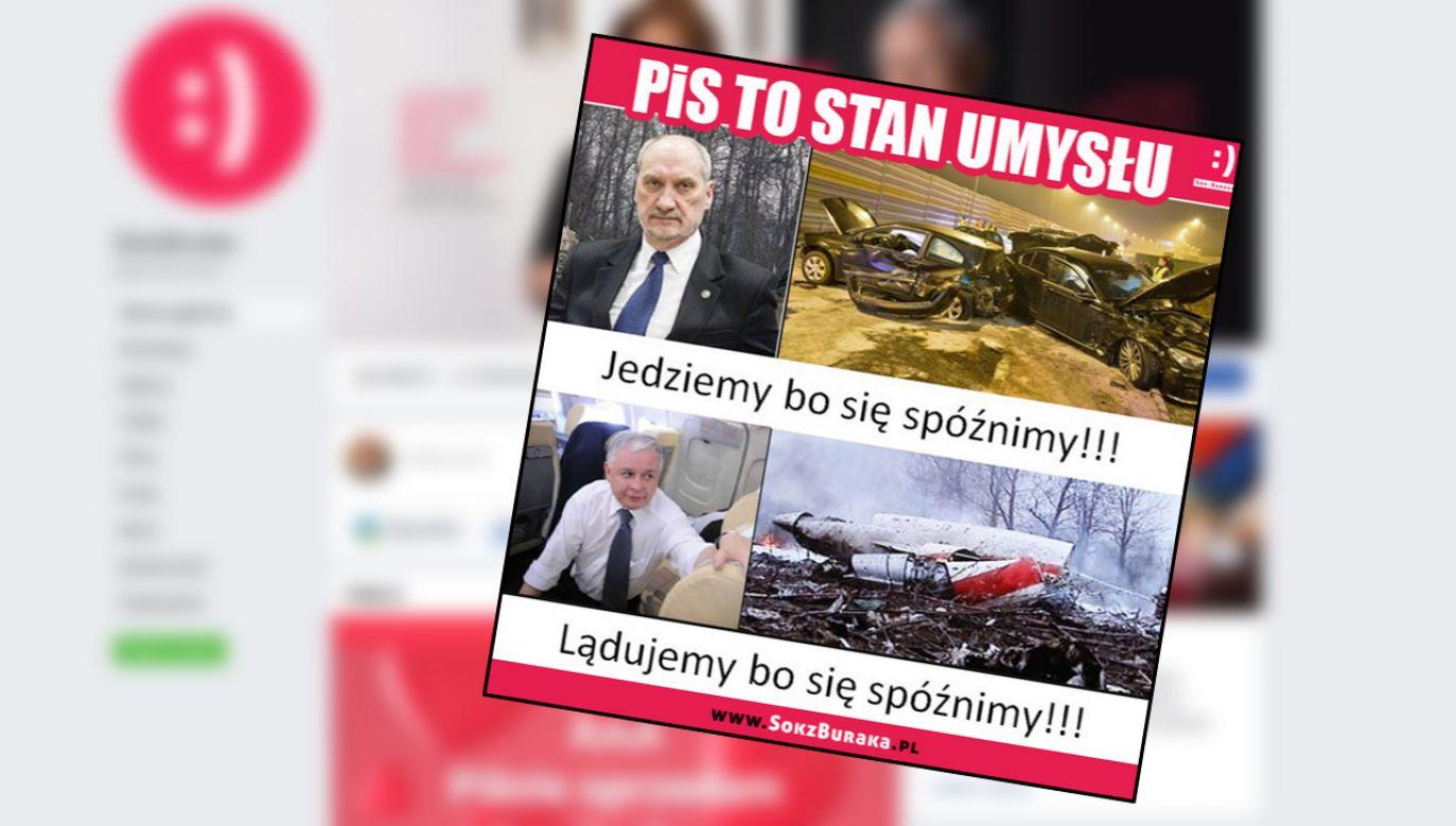 """Według dziennikarzy za """"maszyną politycznego hejtu stanęła Platforma Obywatelska"""" (fot. Facebook/Sok z buraka)"""