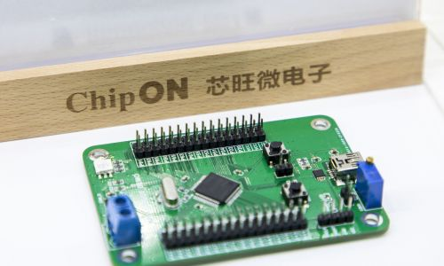 """Chińczycy wprost określają półprzewodniki mianem """"technologii duszącej"""". To znaczy, że gdyby Ameryka zechciała, to mogłaby zdławić sankcjami część komunistycznej gospodarki, odcinając ją od czipów. Na zdjęciu półprzewodnik na stoisku Shanghai ChipON Microelectronic Co., Ltd. podczas Electronica China 2021 w Shanghai New International Expo Center. Fot. VCG / VCG za via Getty Images"""