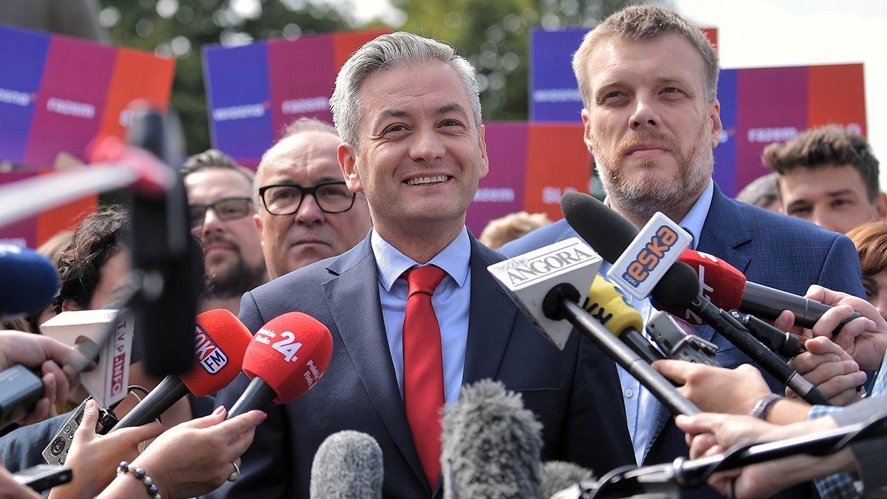 Niewystawienie lidera Wiosny w wyborach do Sejmu jest związane z wyborami prezydenckimi – powiedział Adrian Zandberg (fot. PAP/Marcin Obara)