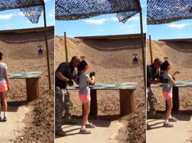 9-latka uczyła się strzelać i zabiła instruktora z uzi [WIDEO] -