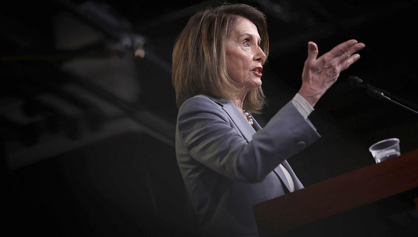 Od dwóch lat Nancy Pelosi stara się doprowadzić do obalenia Donalda Trumpa (fot. Win McNamee/Getty Images)