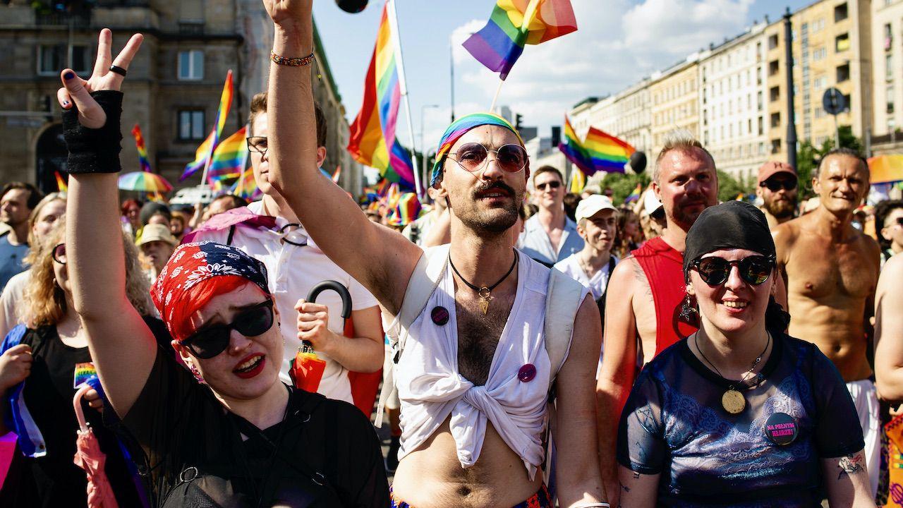 Parada równości LGBT w Warszawie, 2021 rok (fot. P.Lapinski/Nur/Getty Images)