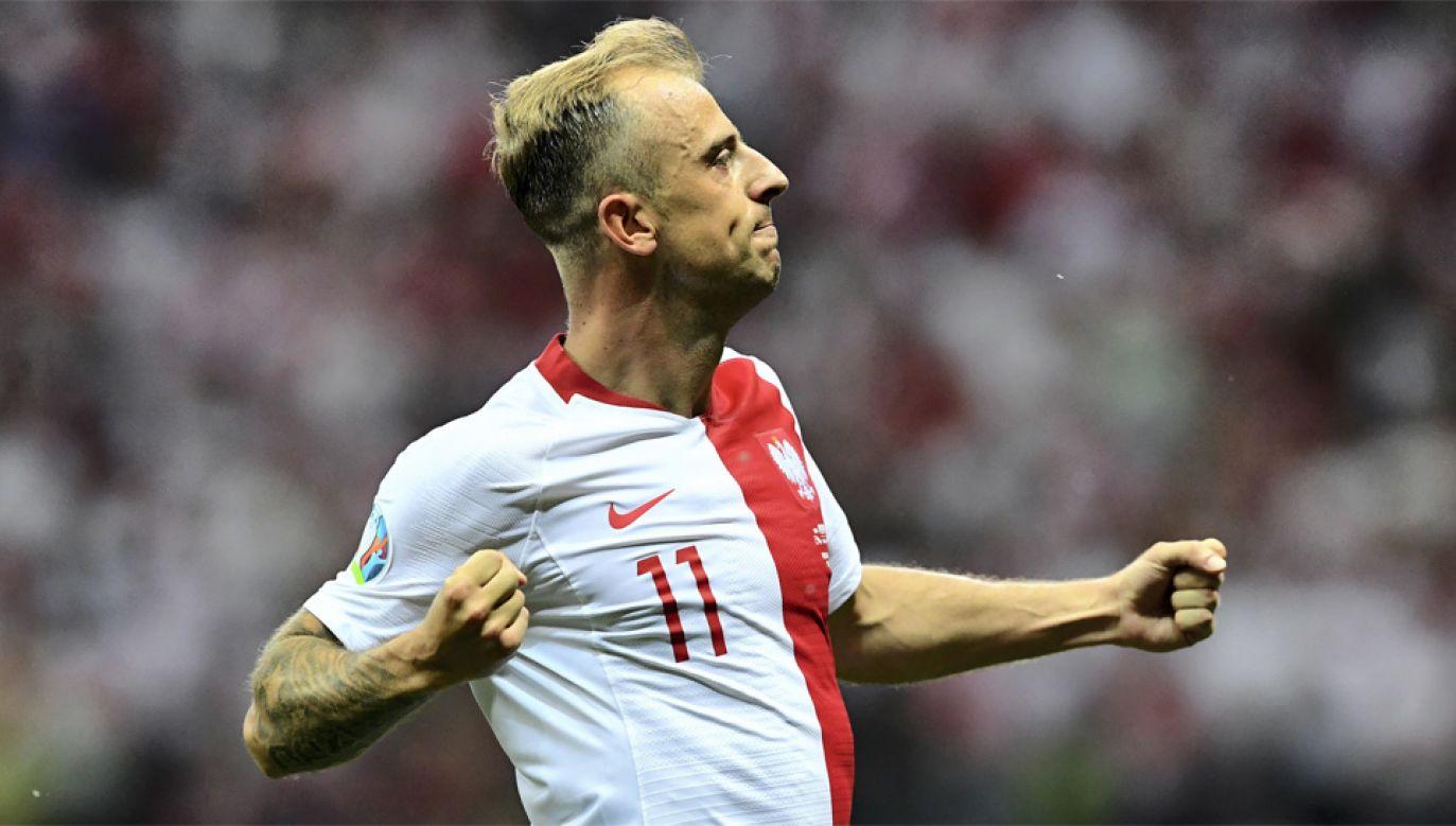 Kamil Grosicki strzelił gola i zaliczył asystę (fot. PAP/Piotr Nowak)