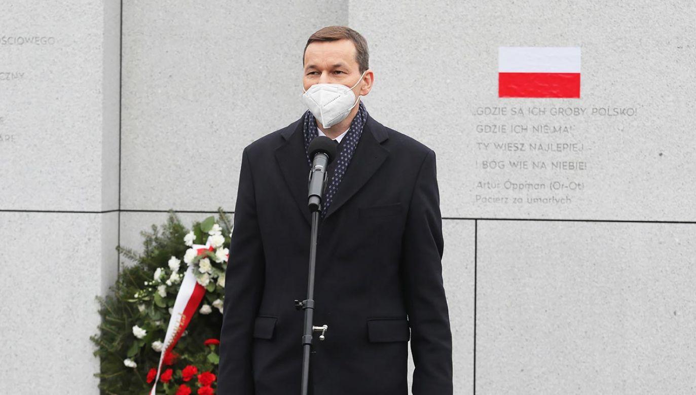 Premier o Żołnierzach Wyklętych (fot. PAP/Paweł Supernak)
