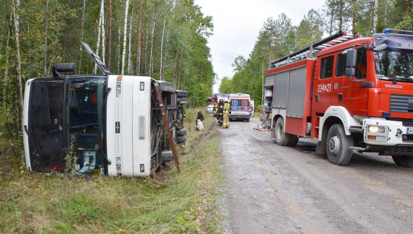 Do wypadku doszło w pobliżu rezerwatu Królewskie Źródła (fot.Damian Latos/Agencja Arpass/dzięki uprzejmości pionki24.pl)