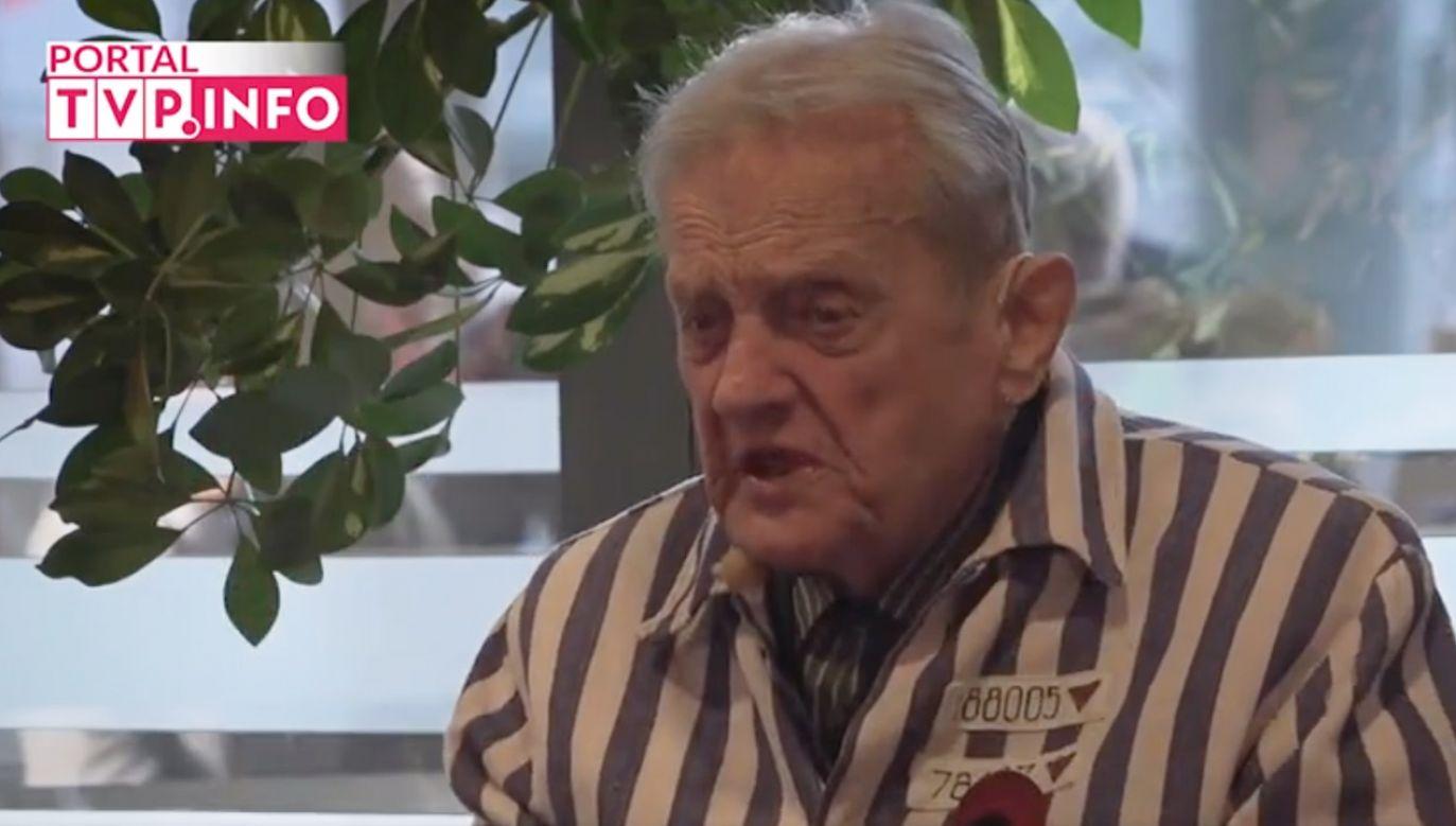 Igor Malickij przetrwał pobyt w niemieckim nazistowskim obozie koncentracyjnym Auschwitz-Birkenau (TVP Info)