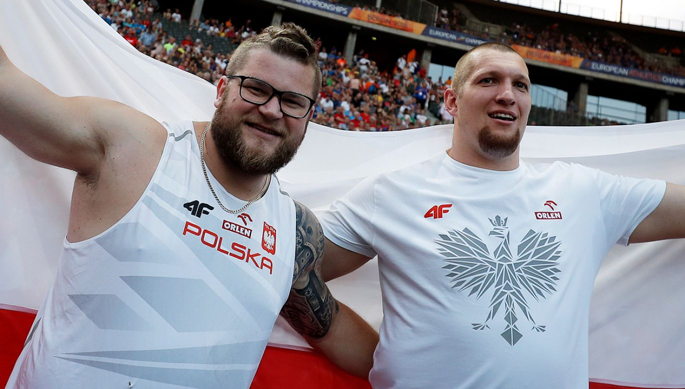 Paweł Fajdek i Wojciech Nowicki między sobą rozstrzygną walkę o złoto w rzucie młotem (fot. arch. PAP/EPA/CHRISTIAN BRUNA)