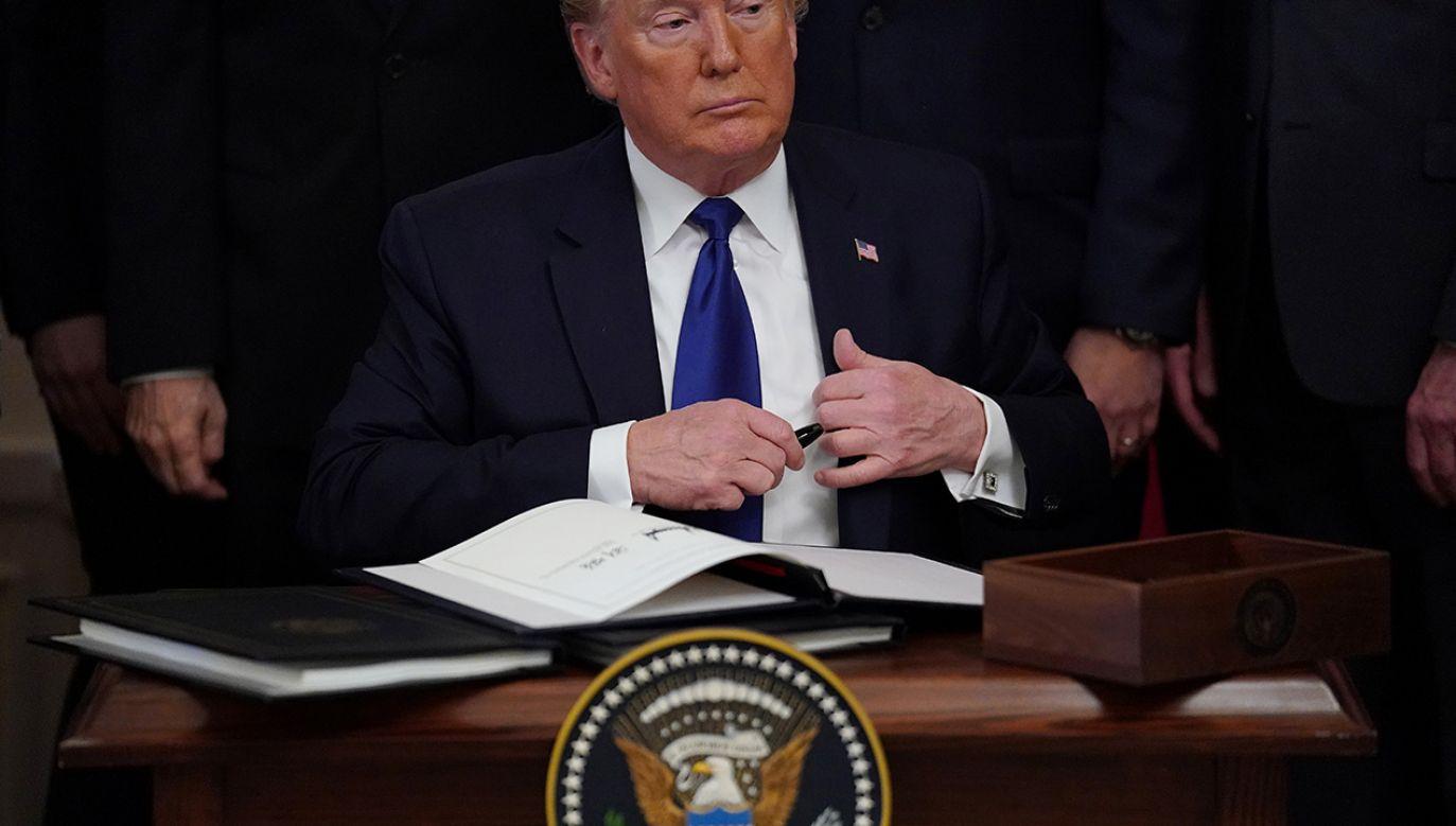 Trump podkreślił też konieczność walki z antysemityzmem (fot. REUTERS/Kevin Lamarque)