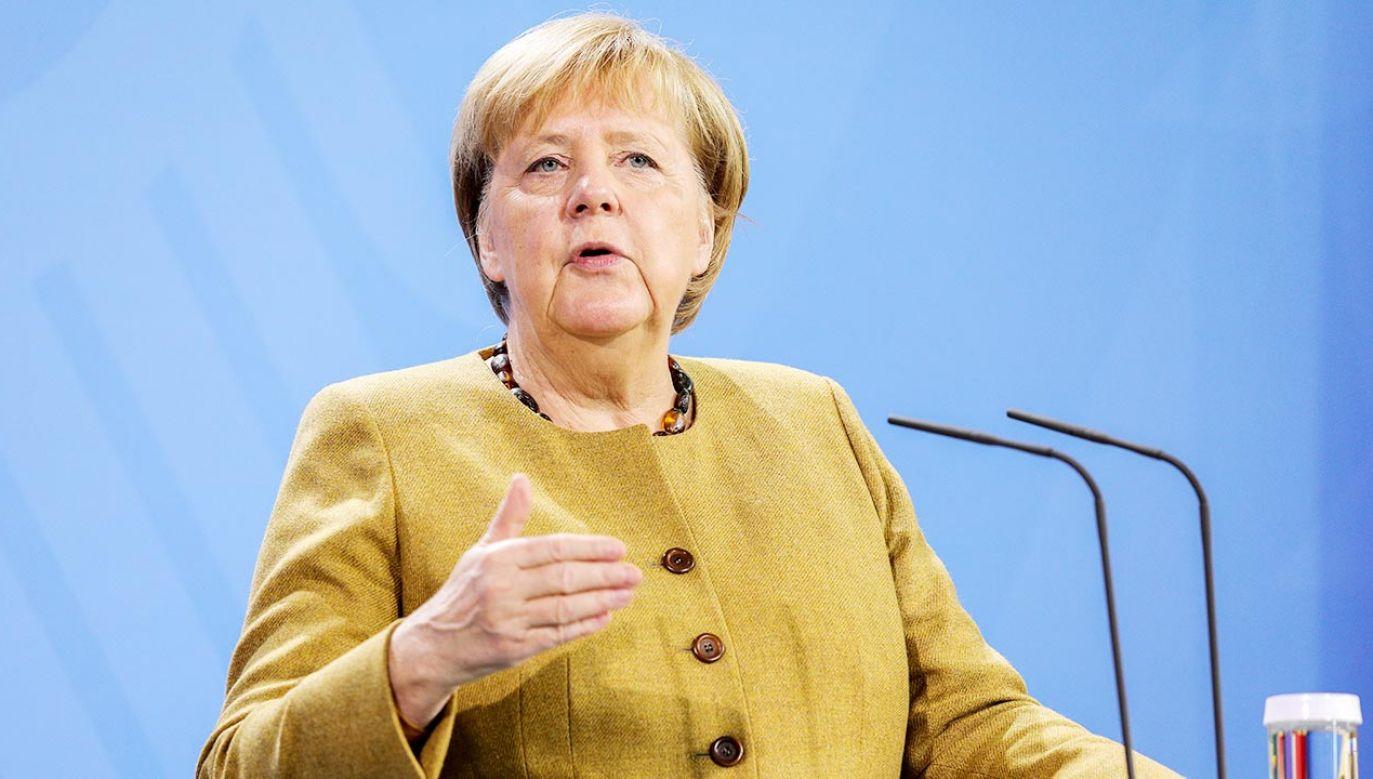Kanclerz Niemiec Angela Merkel (fot PAP/EPA/Omer Messinger / POOL)