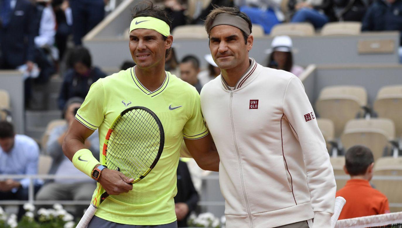 Rafael Nadal i Roger Federer należą do najlepszych tenisistów ostatnich lat (fot. arch.PAP/EPA/JULIEN DE ROSA)