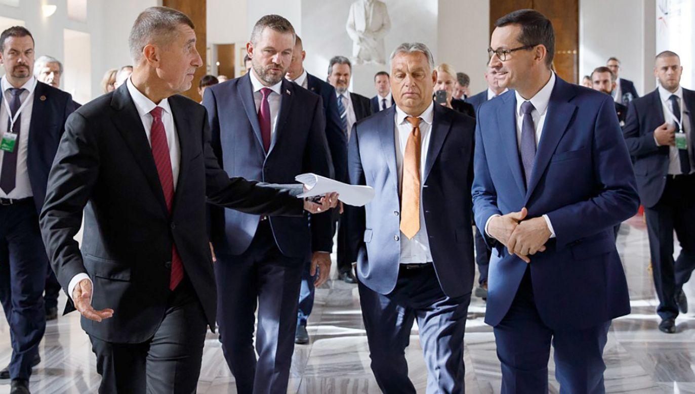 Pellegrini podkreślił znaczenie spotkania w Pradze w formacie państw Grupy Wyszehradzkiej i Bałkanów Zachodnich (fot. Krystian Maj / KPRM)