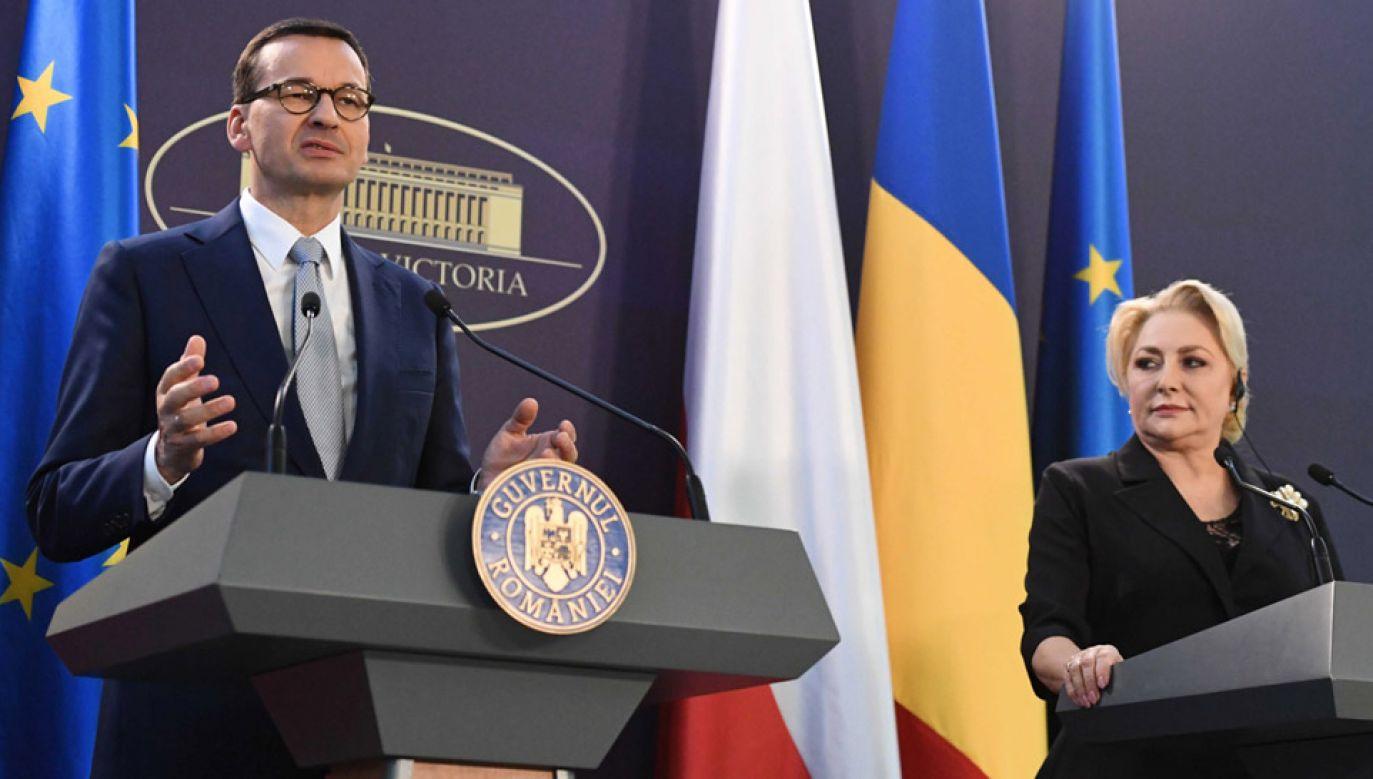 Premier Mateusz Morawiecki i premier Rumunii Viorica Dancila podczas konsultacji międzyrządowych (fot. PAP/Piotr Nowak)