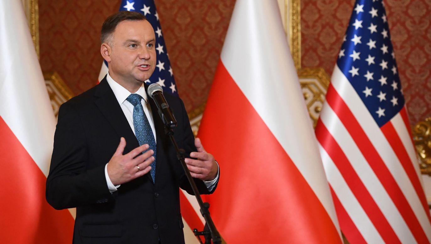 Mam nieodparte wrażenie, że to osobista ambicja prezydenta USA – ocenił Andrzej Duda (fot. PAP/Radek Pietruszka)