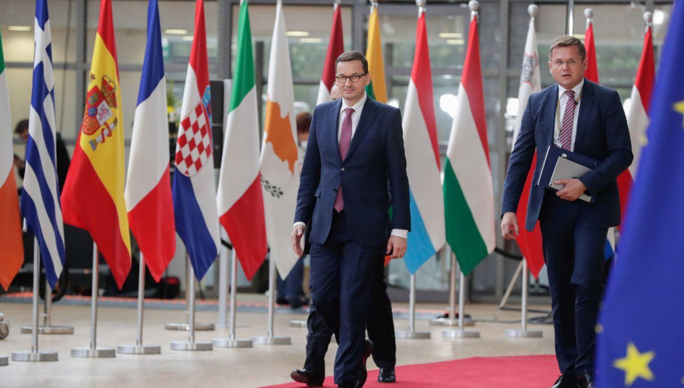 Premier przybył na szczyt UE  w Brukseli (fot. PAP/EPA/STEPHANIE LECOCQ)