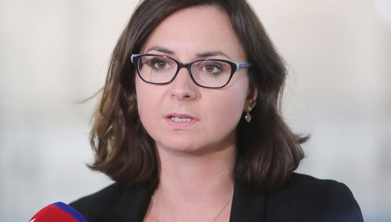 Posłanka Koalicji Obywatelskiej Kamila Gasiuk-Pihowicz (fot. PAP/Wojciech Olkuśnik)