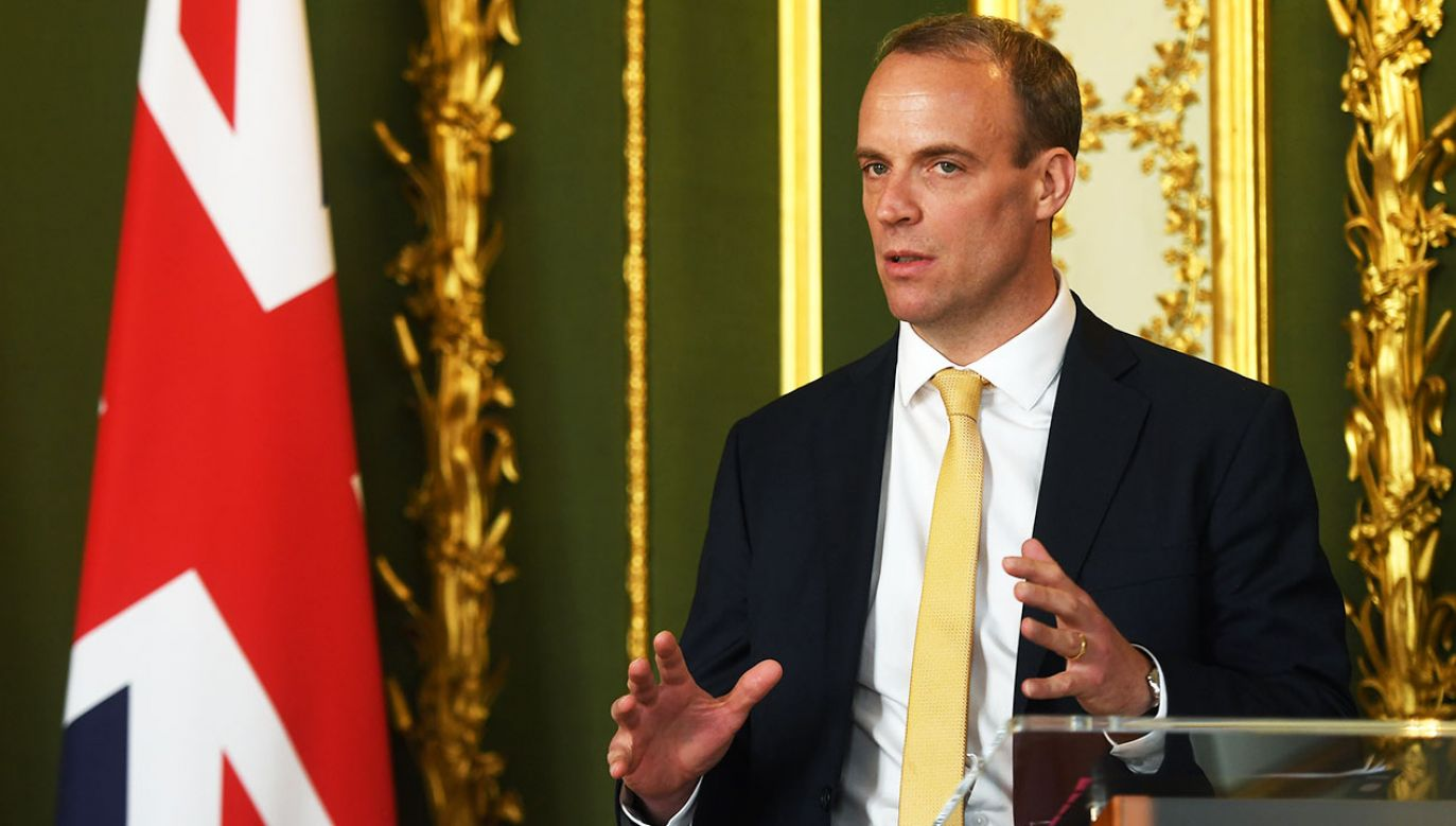 Minister sprawiedliwości Dominic Raab (fot. Peter Summers/WPA Pool/Getty Images)