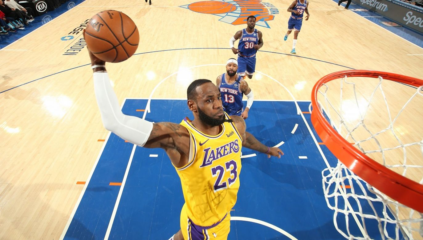 LeBron James po raz 16. wystąpi w wyjściowym składzie meczu All Star  (fot. Nathaniel S. Butler/NBAE via Getty Images)
