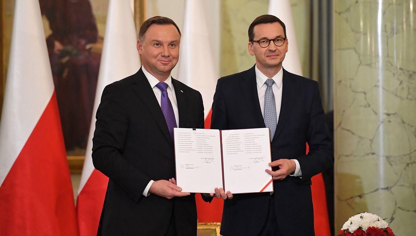 Najpóźniej 14 dni po powołaniu Rady Ministrów nowy premier przedstawia program działania rządu (fot. PAP/Radek Pietruszka)