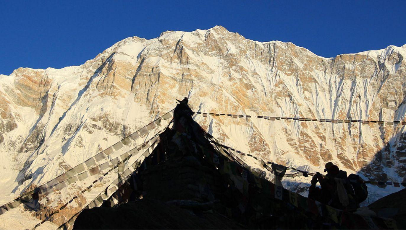 Annapurna (8091 m n.p.m.) jest dziesiątym co do wysokości szczytem Ziemi (fot. Wiki 3.0/Bijaya2043)