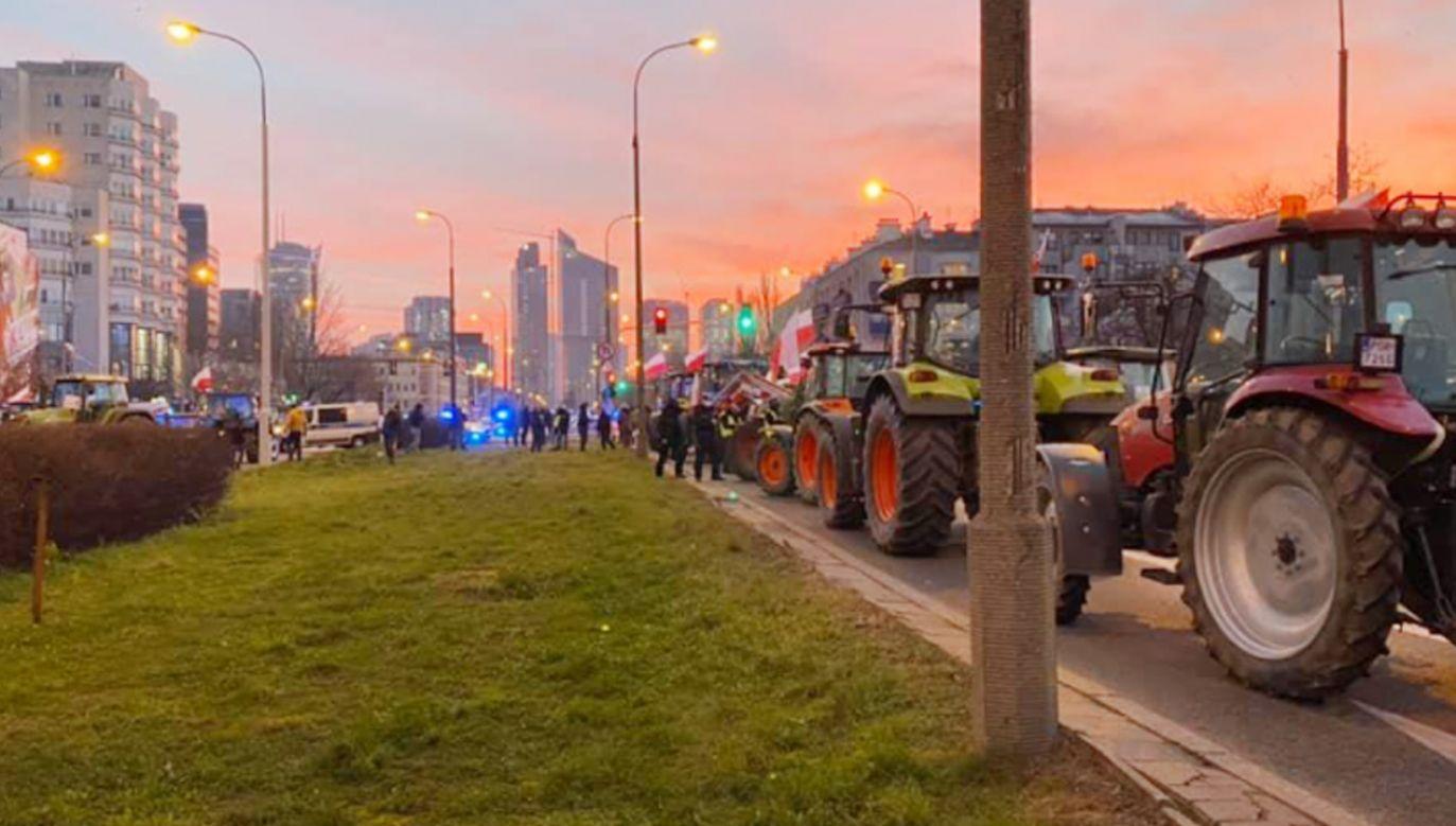Protest rozpoczął się po godz. 5 rano (fot. Facebook/Agrounia)