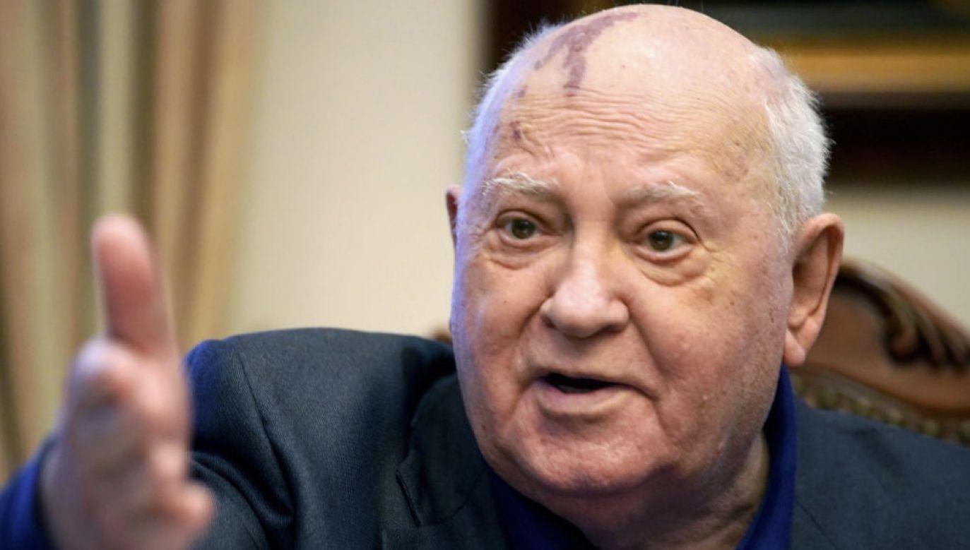 Michaił Gorbaczow zabrał głos ws. protestów na Białorusi (fot. The Asahi Shimbun via Getty Images)