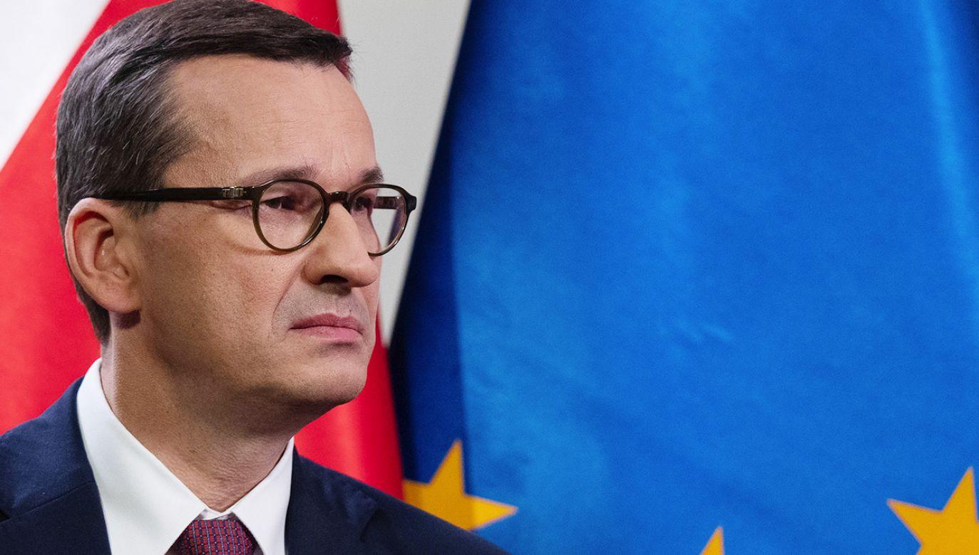 Wniosek do TK skieruje premier Mateusz Morawiecki (fot. Piotr Malecki/Bloomberg via Getty Images)