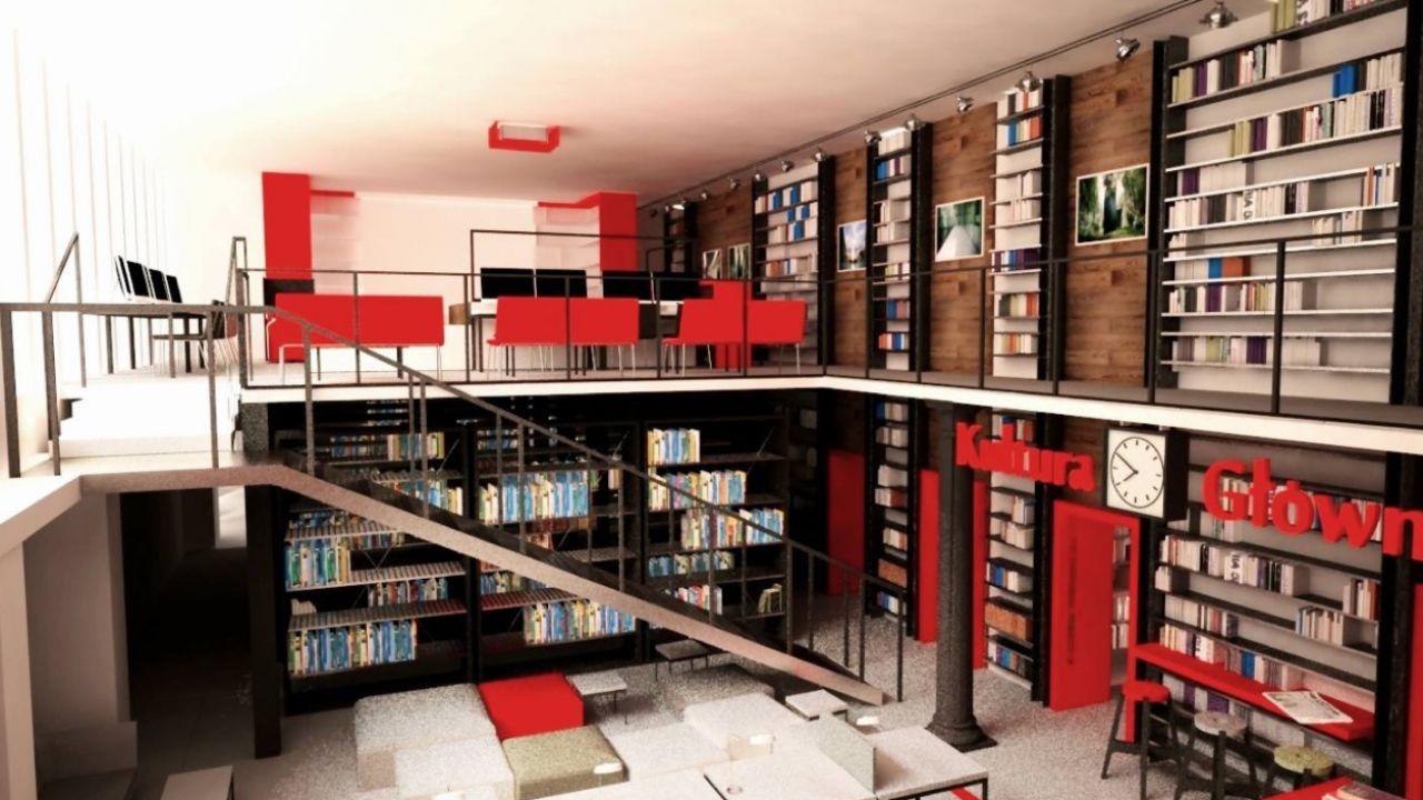 Biblioteka na dworcu w Rumi (fot. facebook.com/Sikora Wnętrza)