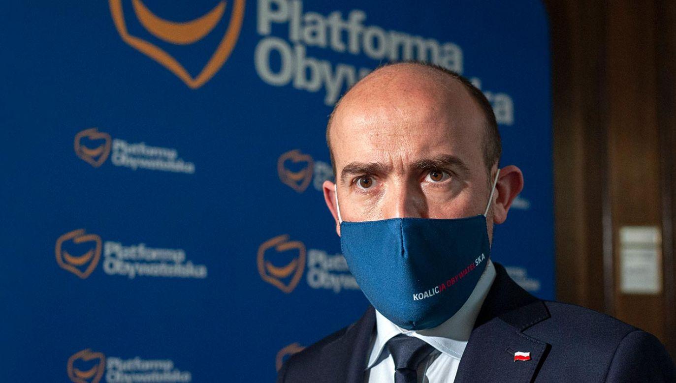 Przewodniczący PO Borys Budka (fot. Forum/FotoNews/GRZEGORZ KRZYZEWSKI)