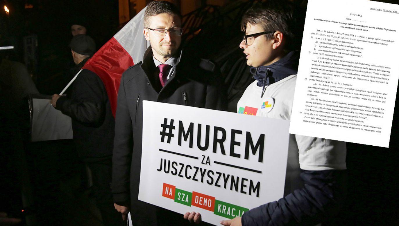 W projekcie podkreślono, że sędziowie odpowiadają dyscyplinarnie za działania o charakterze politycznym (fot. PAP/Tomasz Waszczuk)