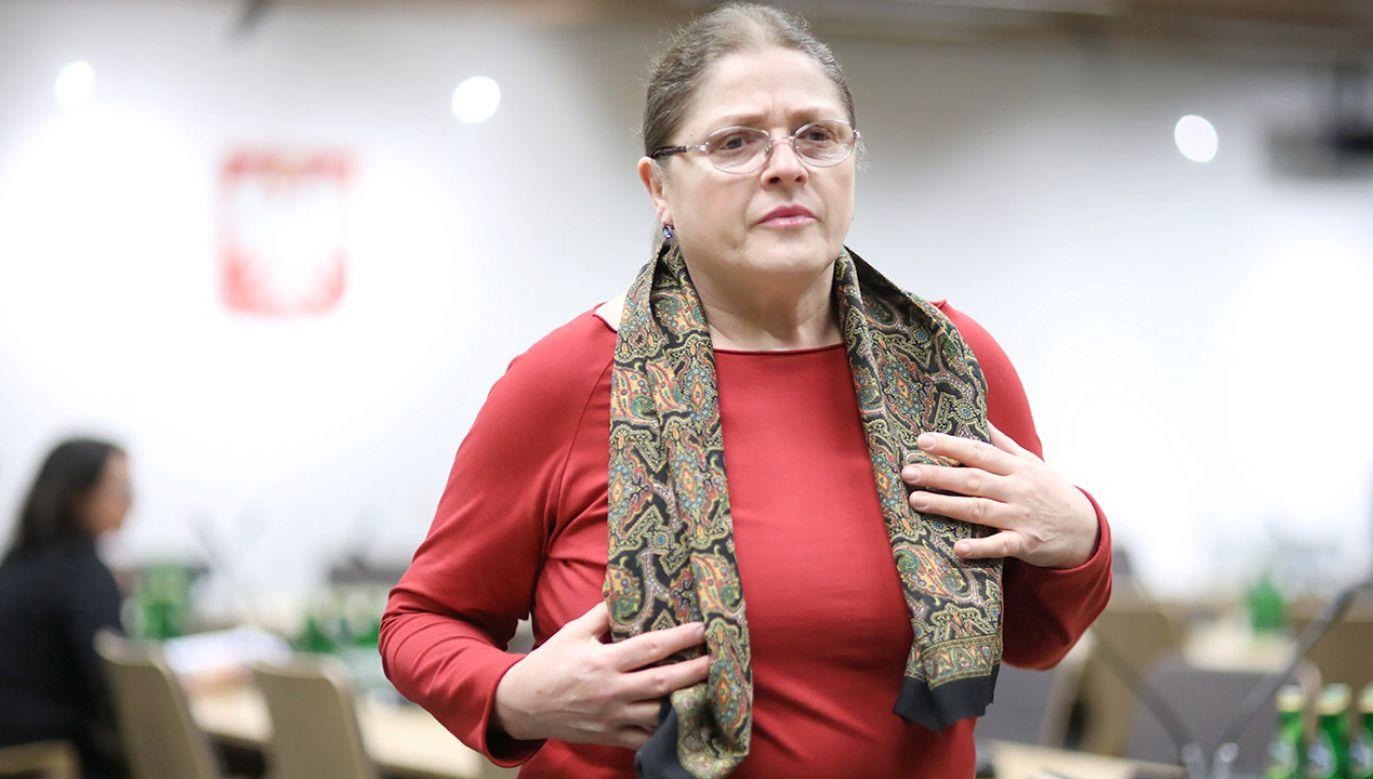 Od 2011 roku Krystyna Pawłowicz jest posłanką PiS (fot. arch.PAP/Leszek Szymański)