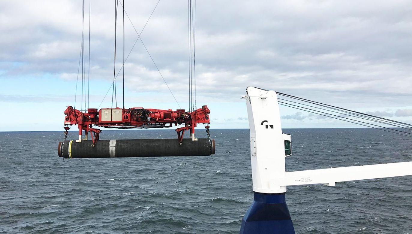 Nord Stream 2 (fot. Forum/STINE JACOBSEN)