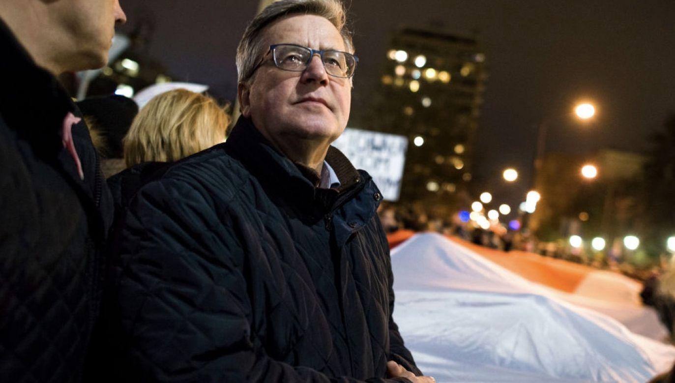 Były prezydent Bronisław Komorowski (fot. Attila Husejnow/SOPA Images/LightRocket via Getty Images)