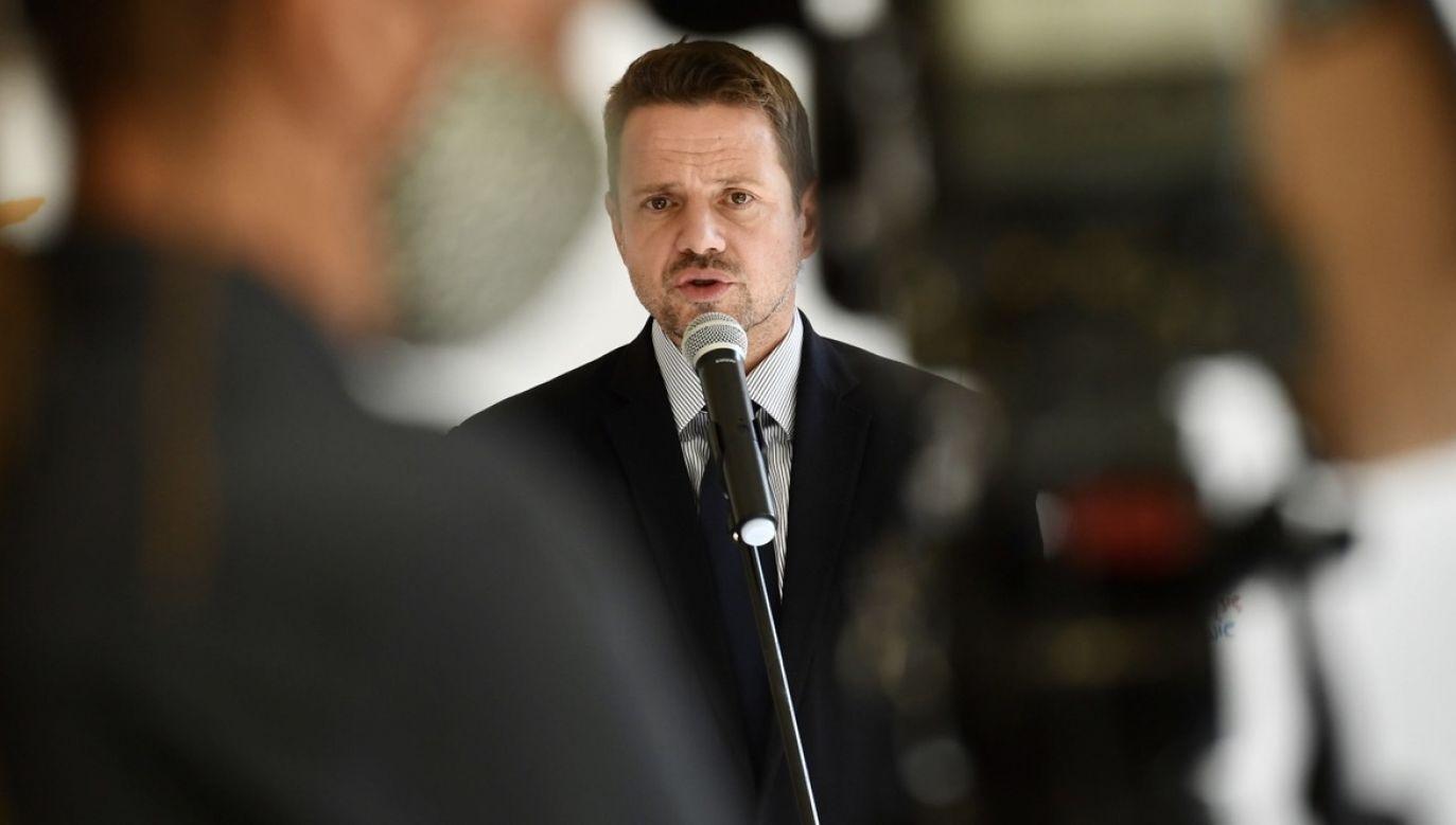 Prezydent Warszawy Rafał Trzaskowski ma zainaugurować swój ruch obywatelski 10 października (fot. PAP/P.Nowak)