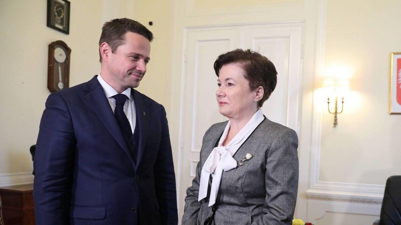 Rafał Trzaskowski i Hanna Gronkiewicz-Waltz (fot. PAP/Tomasz Gzell)