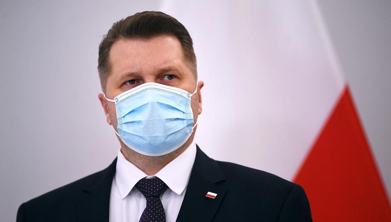 Minister edukacji i nauki Przemysław Czarnek (fot. Forum/Adam Chelstowski)